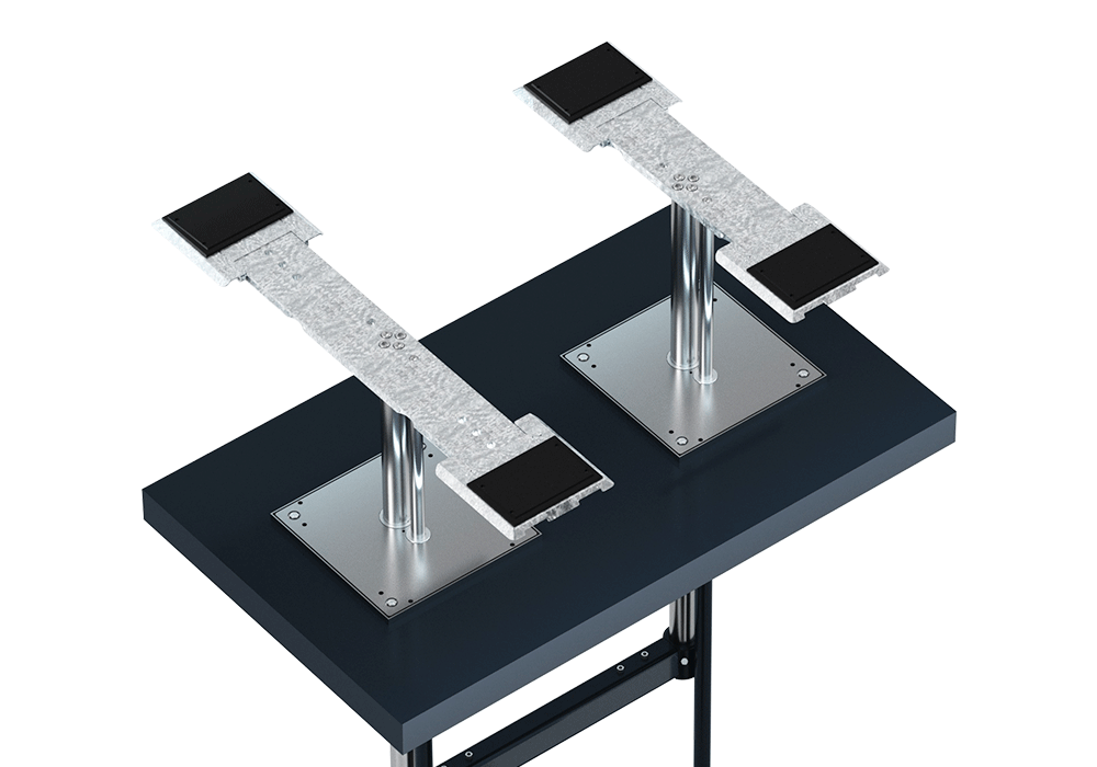 Installation TwinRam in floor slabs