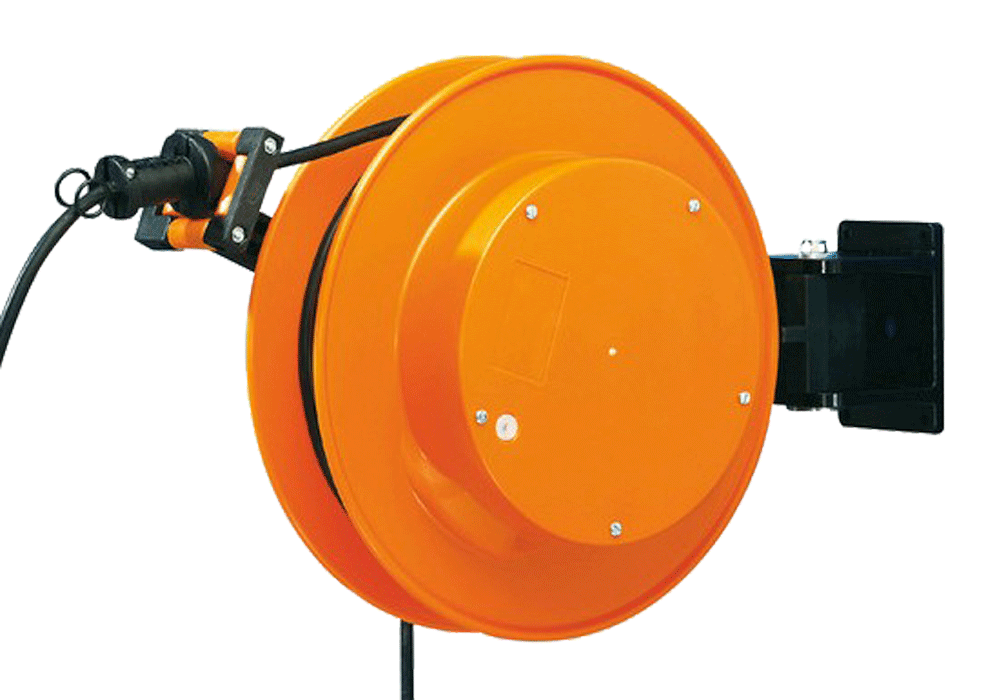 Cable reel for control panel